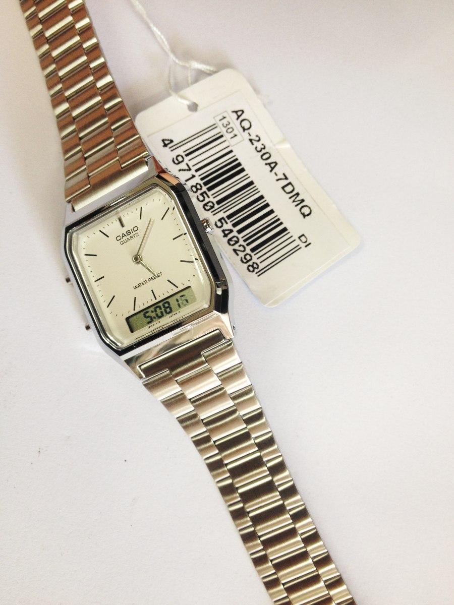 de8e2cfdea6 relógio casio modelo aq-230a-7dmq prata analogico digital. Carregando zoom.