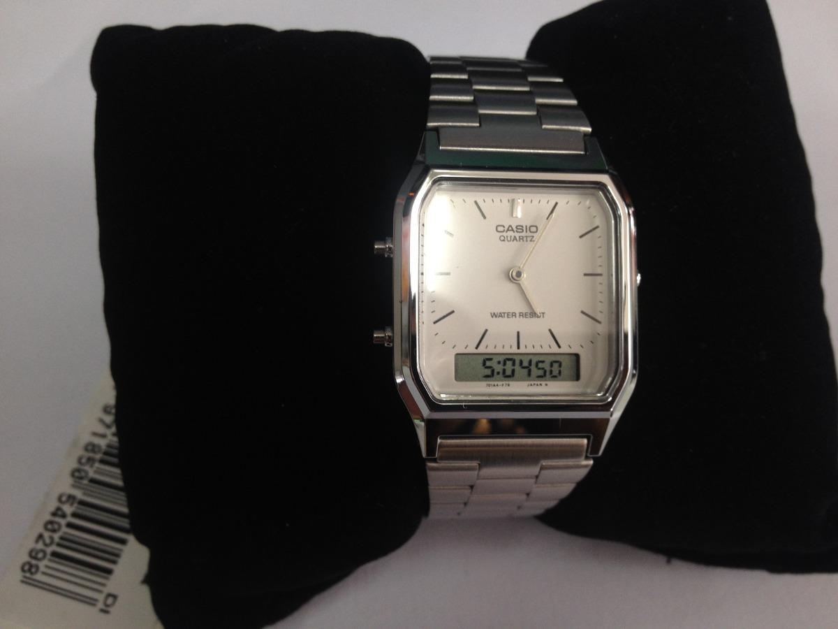 bf26e60f90b relógio casio modelo aq-230a-7dmq prata analogico digital. Carregando zoom.