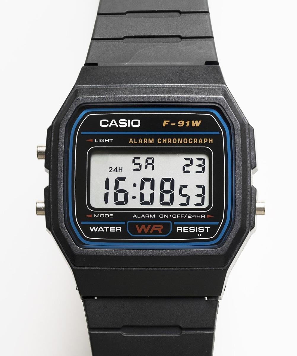 72041d64472 relógio casio modelo f-91 original prova d água brinde top. Carregando zoom.