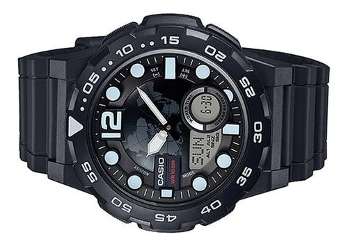 relógio casio original  masculino aeq-100w-1avdf + frete +nf