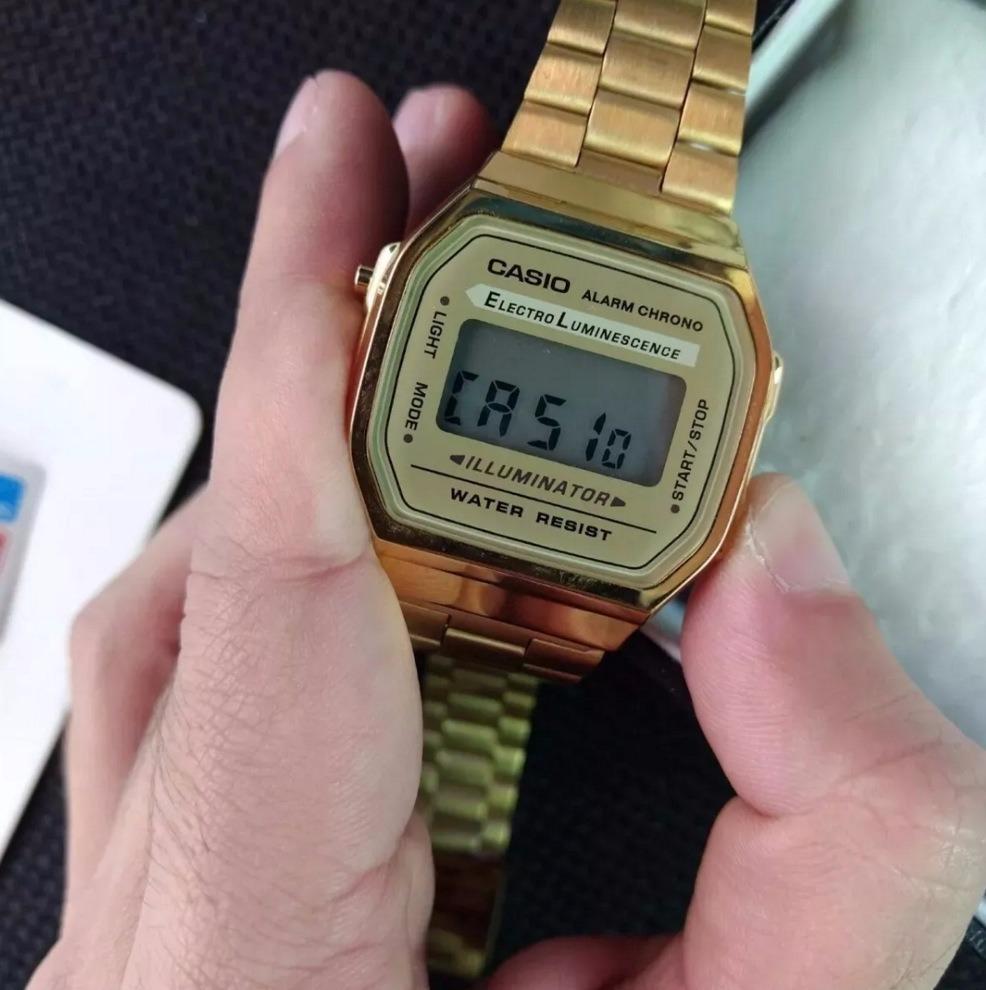 79f6b7d77be relógio casio original moda vintage dourado com garantia. Carregando zoom.