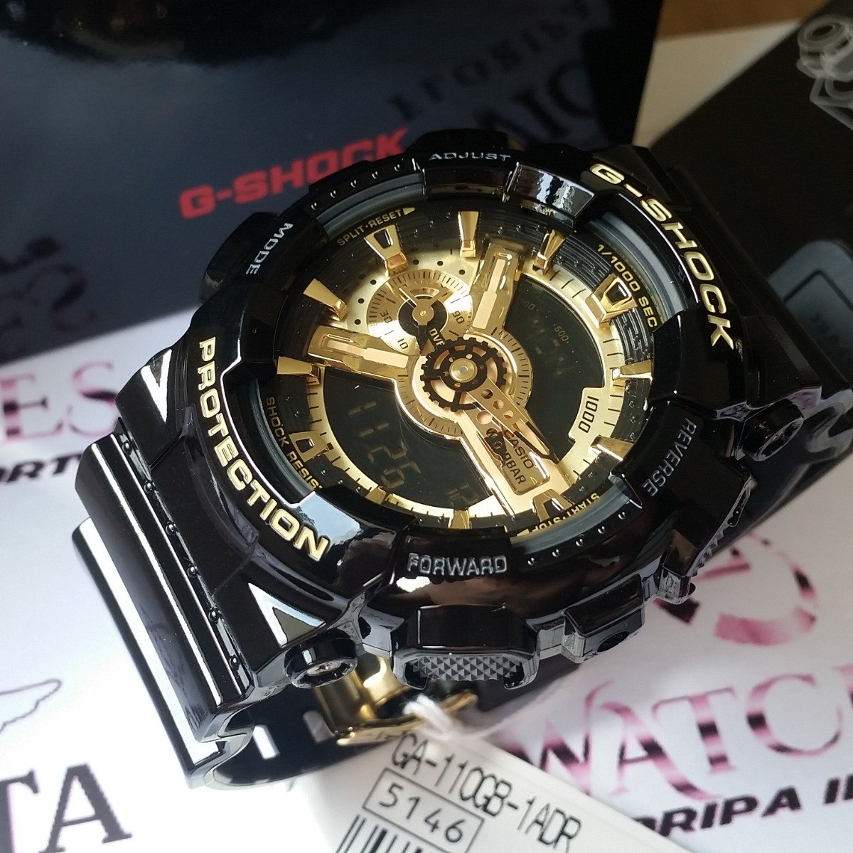 2dcd40ff247 Relogio Casio Others Ga-110gb-1a Preto   Dourado - G Shock - R  669 ...
