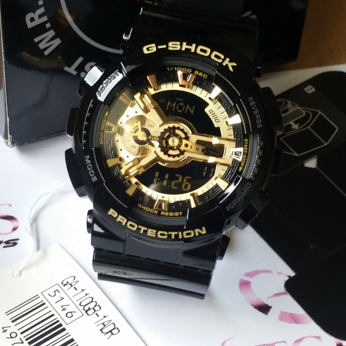 2b76fbcfb9b relogio casio others ga-110gb-1a preto   dourado - g shock. Carregando zoom.
