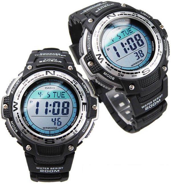 0009a43f133 Relógio Casio Outgear Sgw-100 Bússola Digital Termômetro Pt - R  467 ...