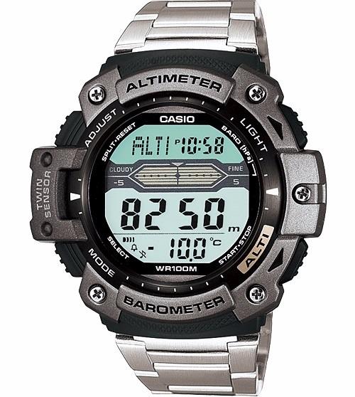 1f6b6923653 Relógio Casio Outgear Sgw-300 Hd Altimetro Barometro Aço Pt - R  489 ...