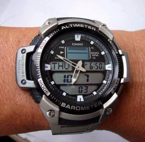caebe8cd300 Relogio Casio Outgear Sgw-400-hd-1bv Aço Altimetro Barometro - R ...
