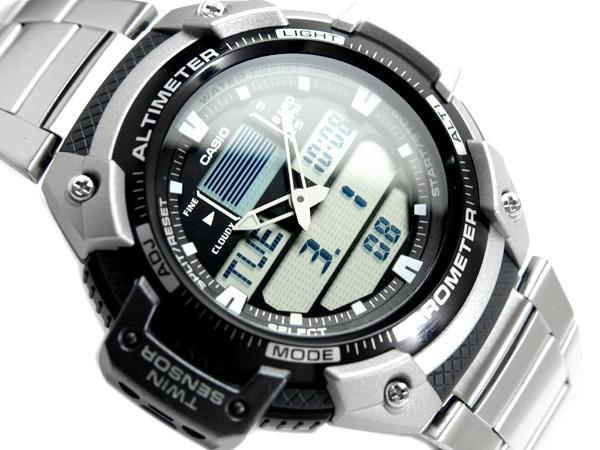 b890a3403fa Relógio Casio Outgear Sgw-400-hd Altimetro Barometro Aço - R  469