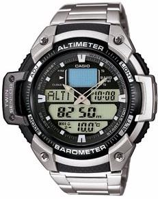 7b3bf7f7ec4 Relógio Casio Outgear Sgw-400-hd Altimetro Barometro Aço - R  449