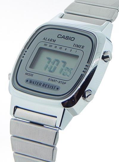 e3ed427b012 Relógio Casio Prata Cinza Tamanho Mini Vintage Retro La670 - R  155 ...