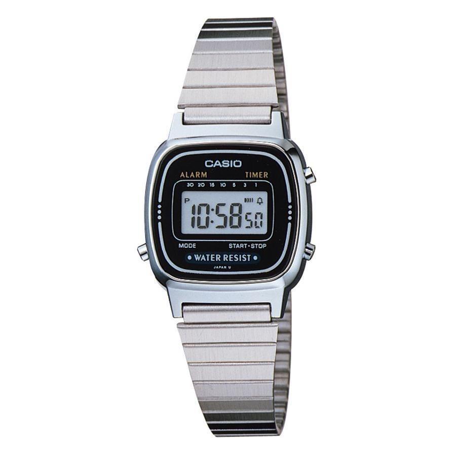 5688ef4d592 relógio casio prata cinza tamanho mini vintage retro la670. Carregando zoom.