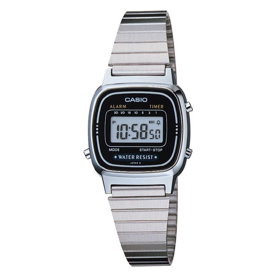 8a4948036e3 relógio casio prata cinza tamanho mini vintage retro la670. Carregando zoom.