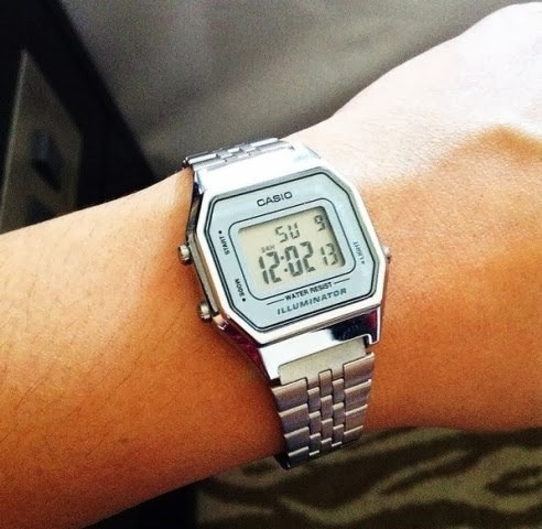 223a57de710 Relógio Casio Prata Cinza Tamanho Pequeno Retro La680 - R  155