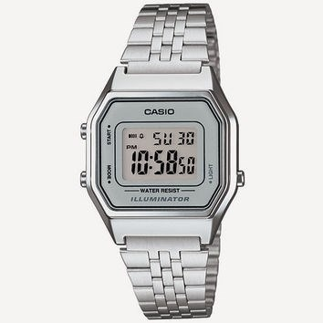 4df284bd72e Relógio Casio Prata Cinza Tamanho Pequeno Retro La680 - R  155 ...