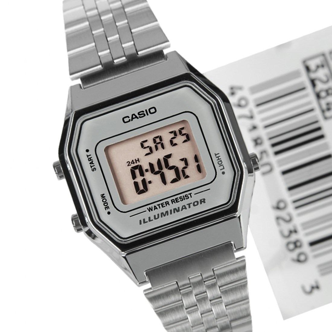 e1503bbcc05 relógio casio prata cinza tamanho pequeno retro la680. Carregando zoom.