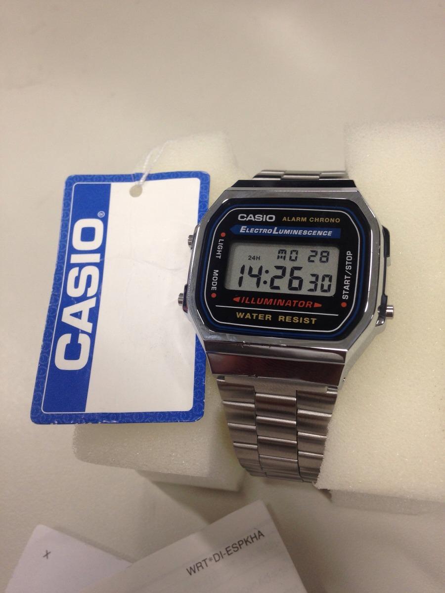 9f366472ed082 relógio casio prata original vintage masculino feminino a168. Carregando  zoom.