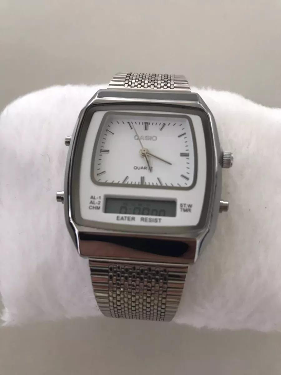 9cf47cf88bd relógio casio prata unisex ac-1818g digital e analogico. Carregando zoom.