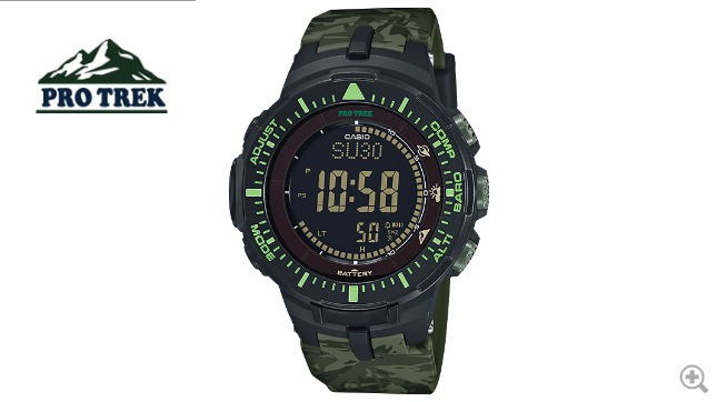 5433313800c Relógio Casio Protrek Prg-300cm-3cr Bússola Barômetro Termom - R ...