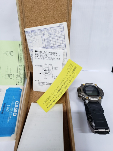 relogio casio protrek prt-11fgj fishing gear reliquia