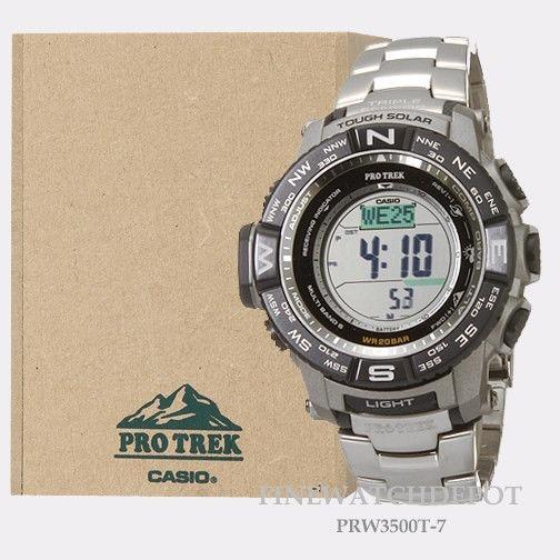 3d66814a0e6 Relogio Casio Prw-3500t-7cr Pro Trek Tough Solar Titanium - R  2.520 ...