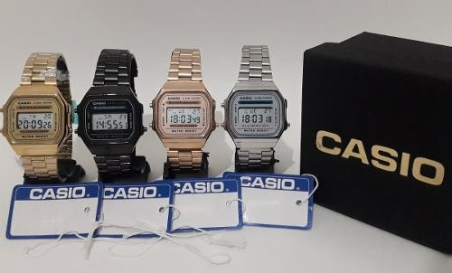 9c308da0894 Relógio Casio Retrô Vintage Aço Digital+caixa Todos Modelos - R  65 ...