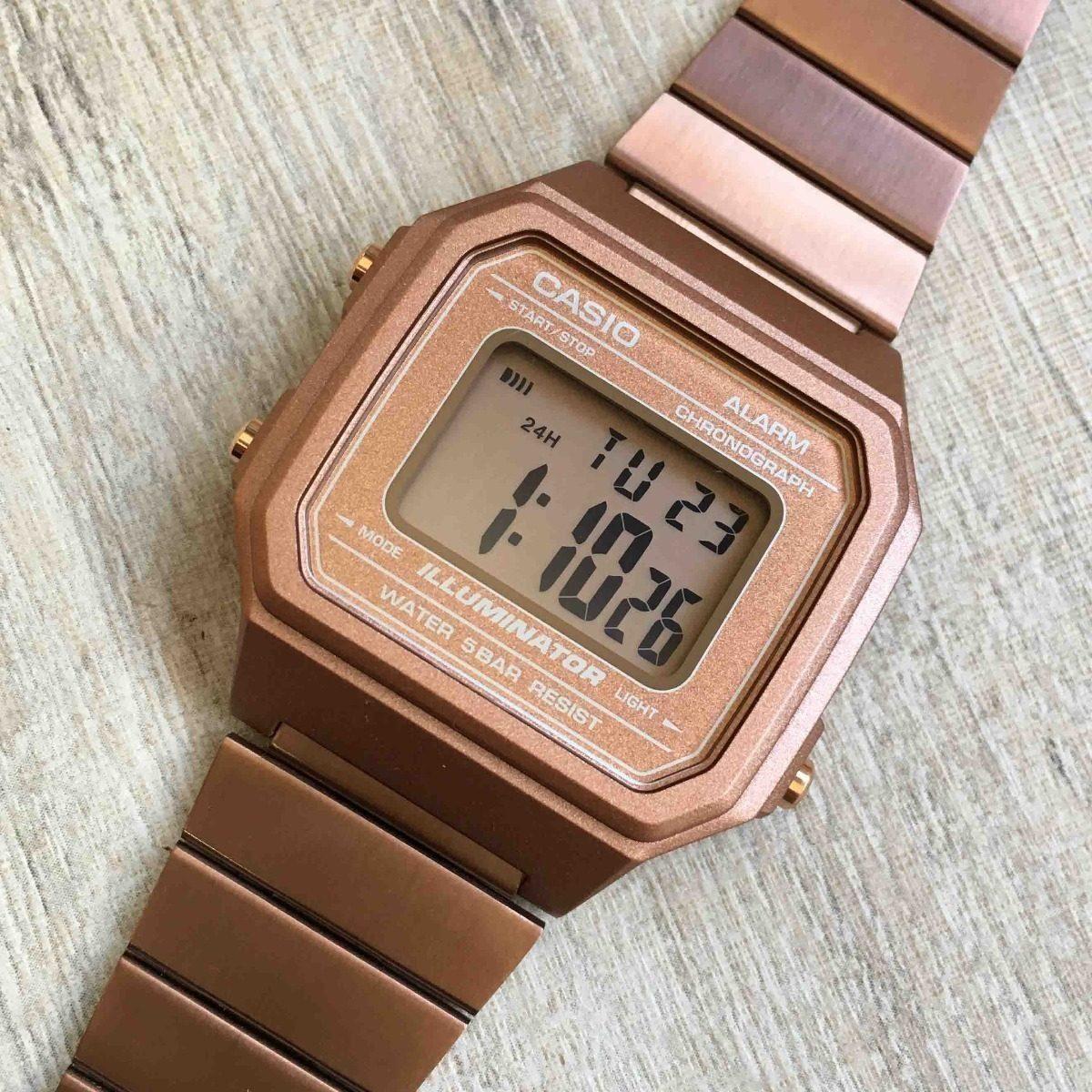 8eebf983924 relógio casio retrô vintage feminino b650wc-5adf original nf. Carregando  zoom.