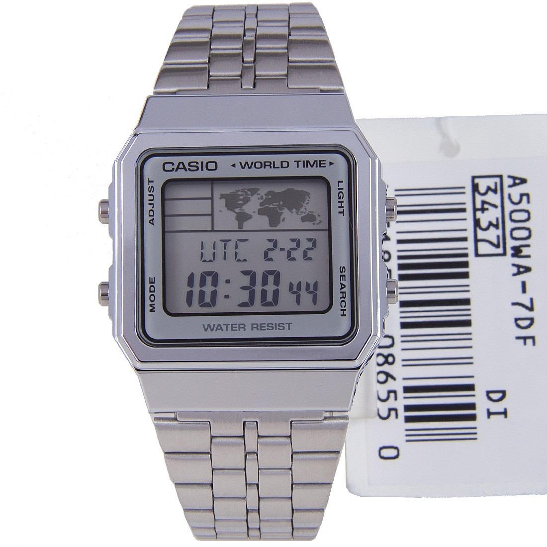 2a5f5782246 Relógio Casio Retro A500wa 7df Hora Mund Original Nf Frt Grt - R ...