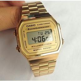 36657b473ad4 Relógio Casio Retro Dourado Digital Barato - R  119