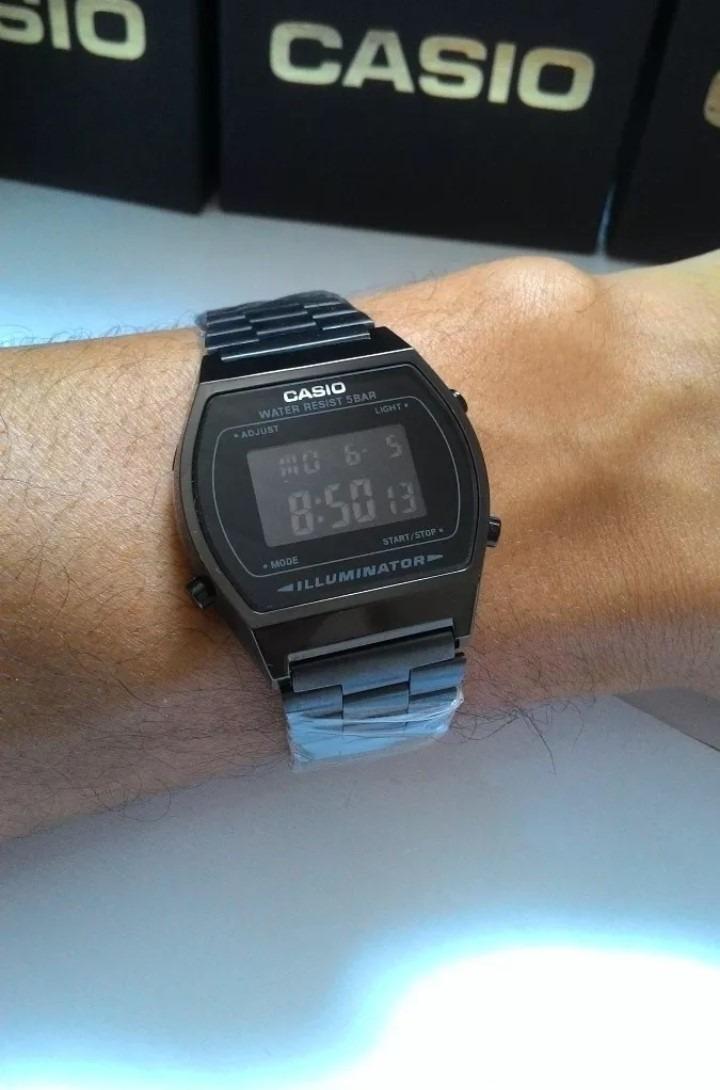 c4b9745565c relógio casio retro masculino preto digital 640w. Carregando zoom.