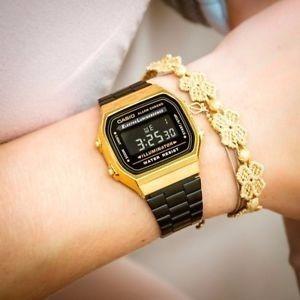 ece38d7c41a Relógio Casio Retro Preto dourado Promoção - R  85