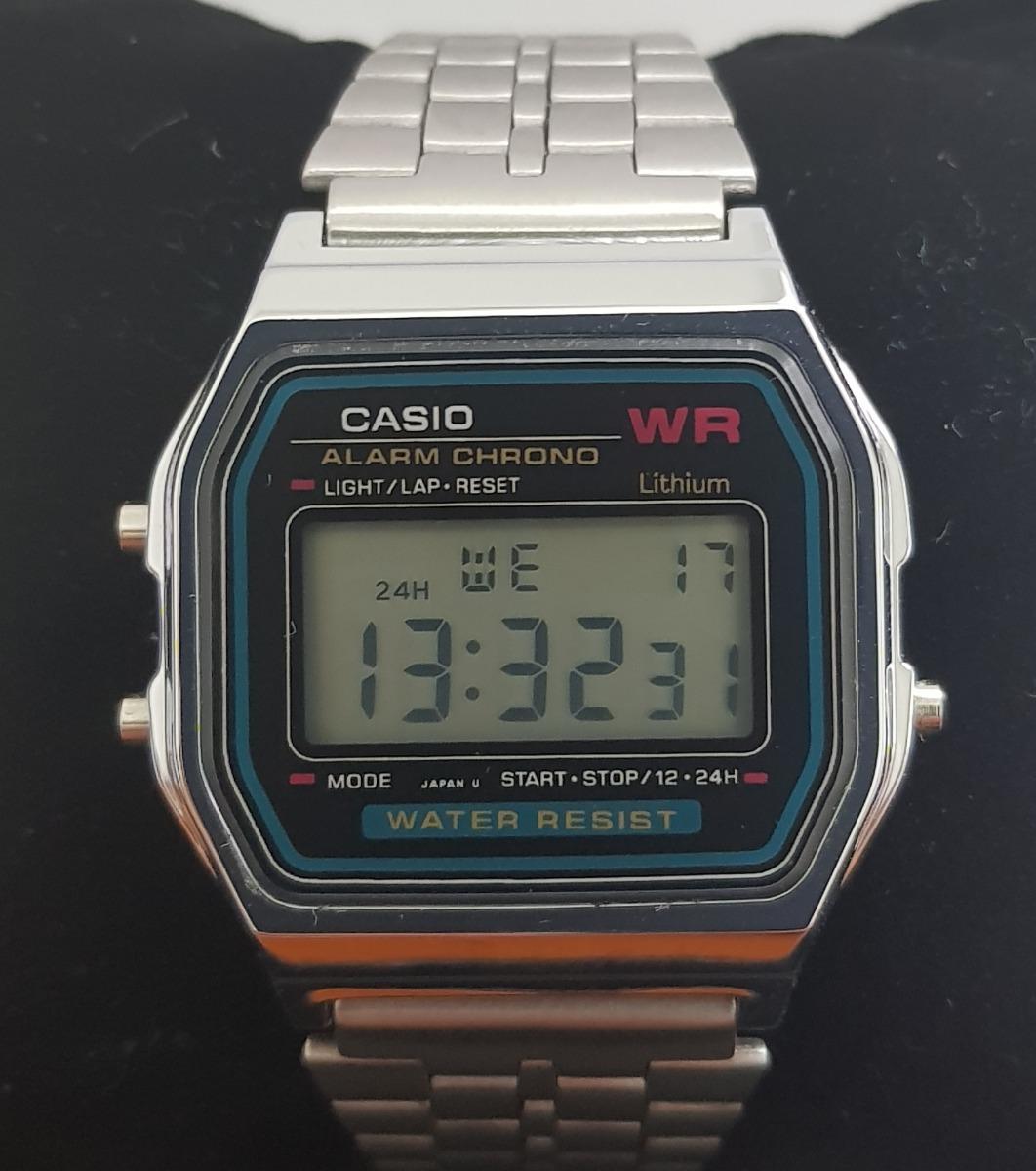 e606809ed4d Relógio Casio Retro Vintage Digital Barato A159 Prata + Nf - R  120 ...