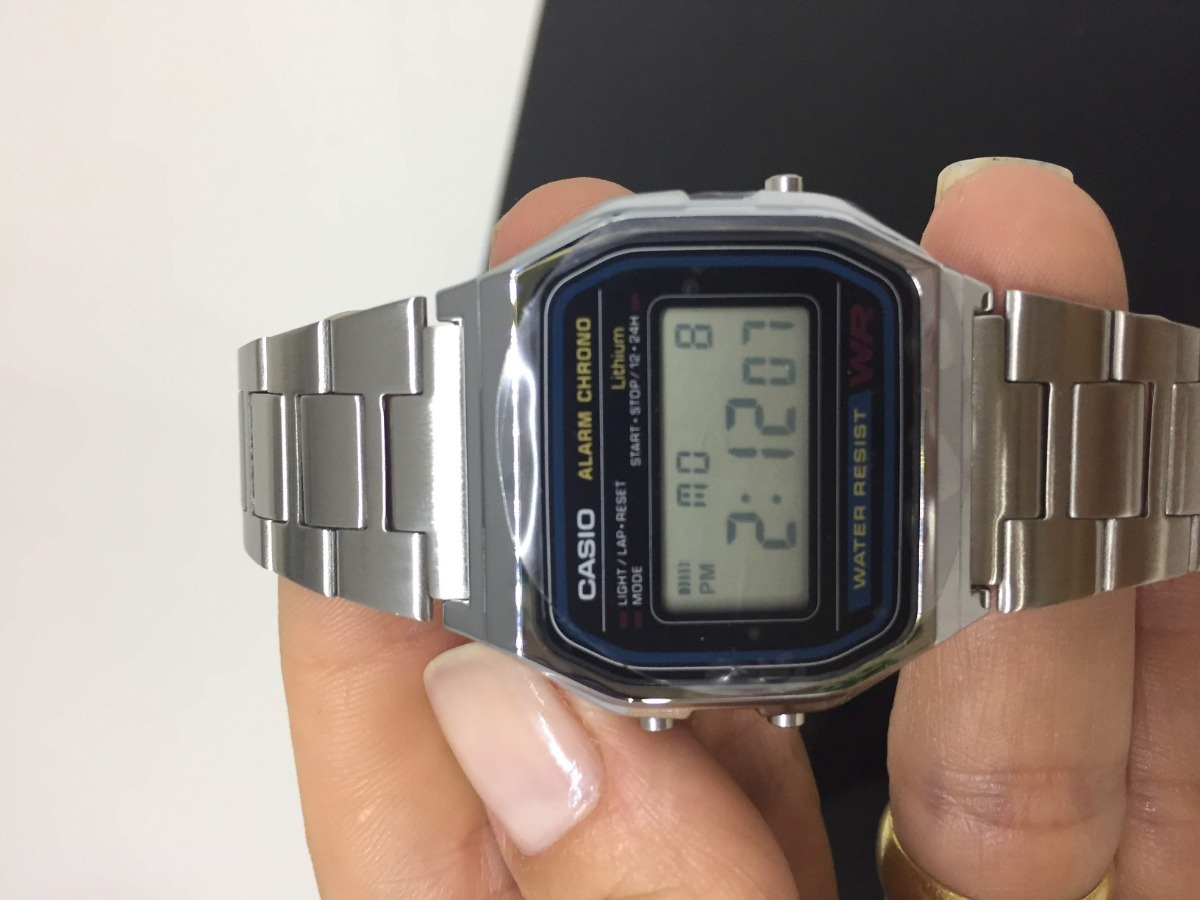 86ad903167d relogio casio retro vintage digital unissex a158wa-1df. Carregando zoom.
