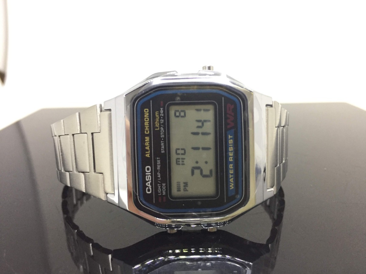 7b28006c349 relogio casio retro vintage digital unissex a158wa-1df. Carregando zoom.