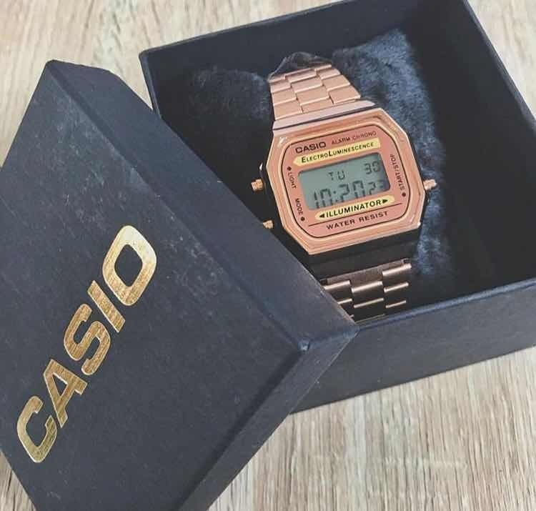 422bfbe0dc0 Relogio Casio Rose +caixa - Promoção Ca02 - R  103