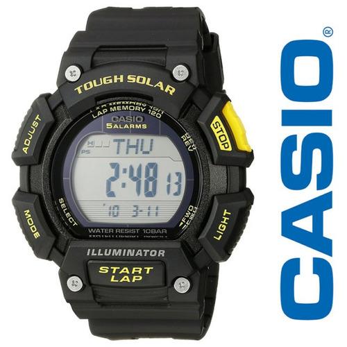 relógio casio runner bateria solar - stls-110h-1ccf