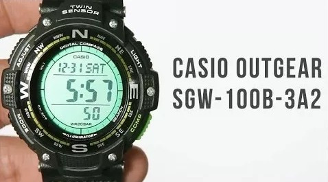 relogio casio sgw-100b-3a2 outgear pulseira lona sgw-100-1v