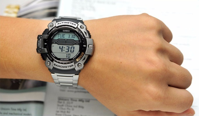 5b69dd5e0ff Relógio Casio Sgw-300hd Termômetro Barômetro Altímetro Pesca - R ...