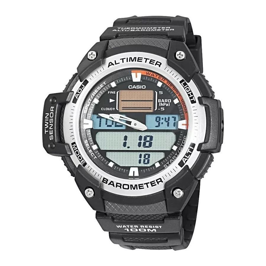14654dec8d3d Relogio Casio Sgw 400h1b Prata Termometro Altimetro Barômetr - R ...
