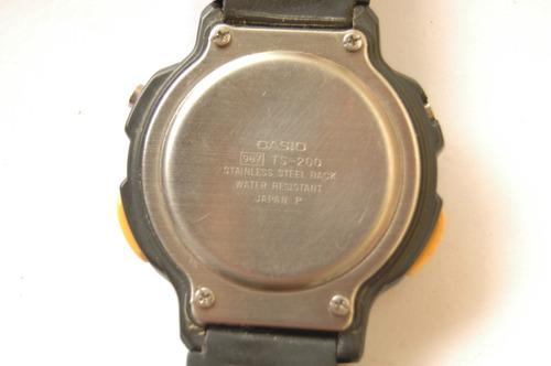 relógio casio termometer ts - 200 c/ garantia relogiodovovô