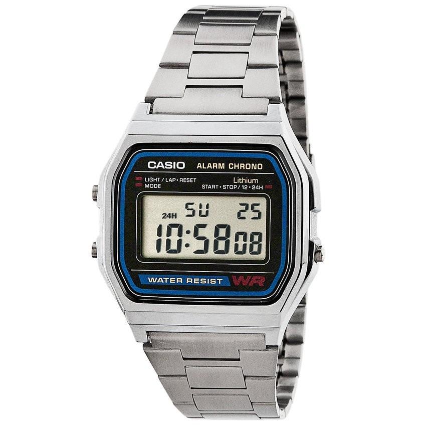 b1e051f4625 relógio casio unisex a158 vintage prata a158wa-1df na caixa. Carregando  zoom.