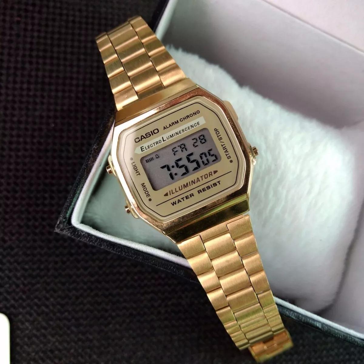 4779fa5035b relogio casio unisex a168 retrô vintage dourado a168wg-9wdf. Carregando zoom .