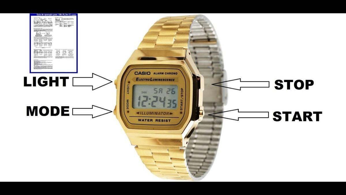 91992c82050 Relogio Casio Unisex A168 Retrô Vintage Dourado A168wg-9wdf - R  120 ...