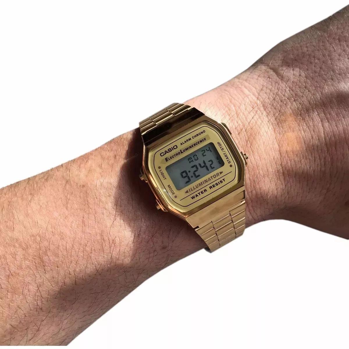 a4e768425a7 Relógio Casio Unisex A168 Retrô Vintage Original - R  50