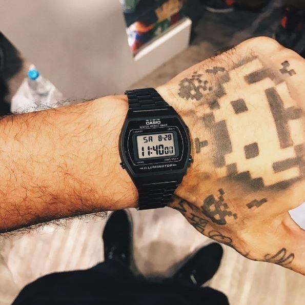 e97b7d4afda relógio casio unissex b640 preto pronta entrega novo promoçã. Carregando  zoom... relógio casio unissex
