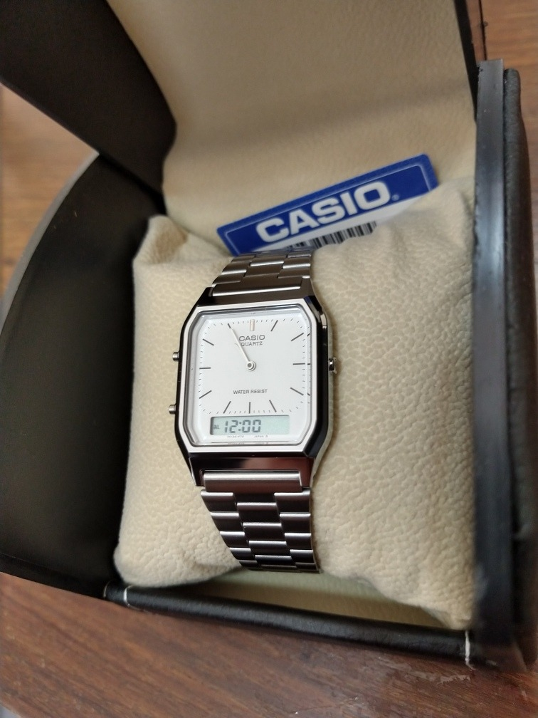 ba40e2e9f89 Relógio Casio Unissex Digital Aq-230a-7dmq Prata - R  199