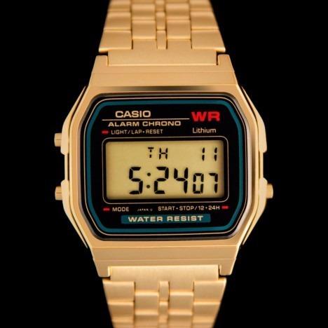 785d3a02d6e Relógio Casio Unissex Dourado Data Retrô Prova A159wgea-1df - R  255 ...