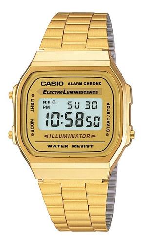 relógio casio unissex vintage digital dourado original