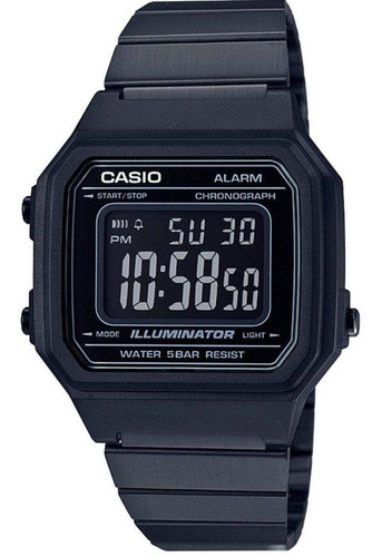 relógio casio unissex vintage digital preto b650wb-1bdf