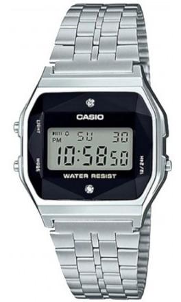 relógio casio vintage a159wad-1df diamante nf frete grátis