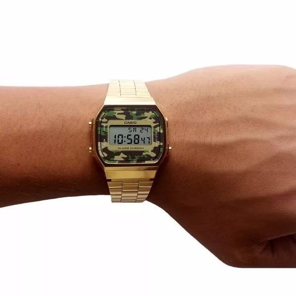 d3d517195f9 Relógio Casio Vintage A168 Dourado Camuflado Black Friday - R  260 ...