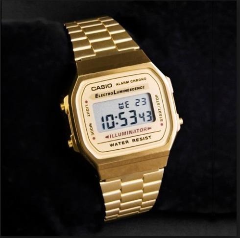 f4ea9f5bb75 Relogio Casio Vintage A168wg-9 Retro A158 A168 Promoção !!!! - R ...